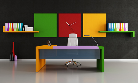 Colorful modern office furniture