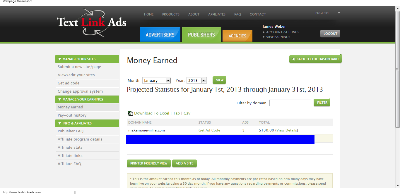 text-link-ads-review-130-dollars-in-7-days