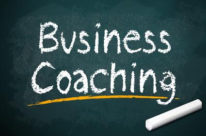 Kreidetafel mit Business Coaching