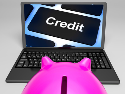 Credit Key On Laptop Shows Cashless Purchases