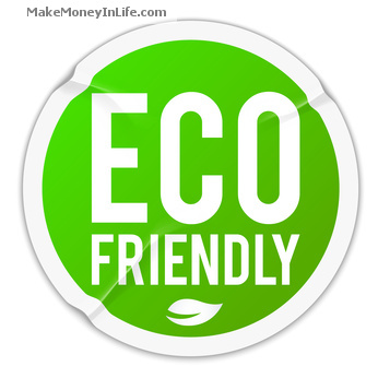 Eco friendly - wrinkled sticker - eps10