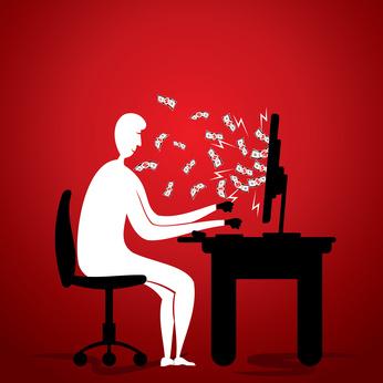 online money earn concept stock vector