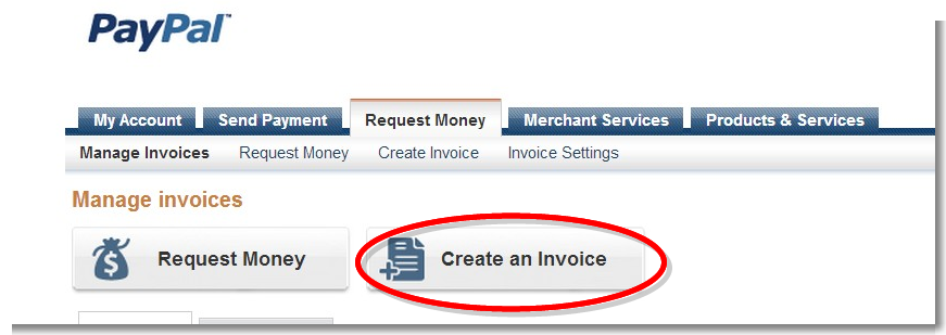 Manage invoices - PayPal