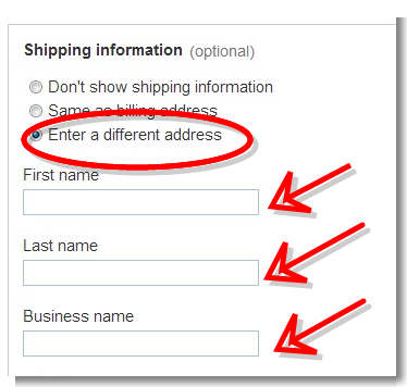 Recipient information - PayPal