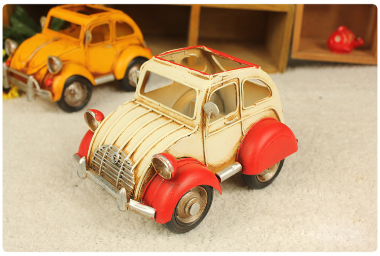 Home-decoration-metal-craft-iron-car-model-beetle-pen-business-card-box-hot-selling