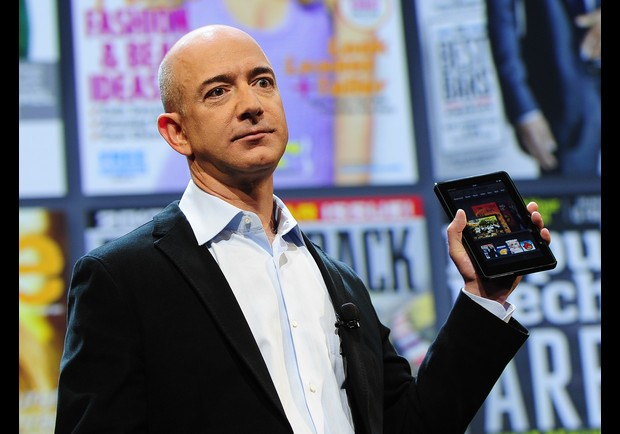 Amazon CEO Jeff Bezos introduces the new