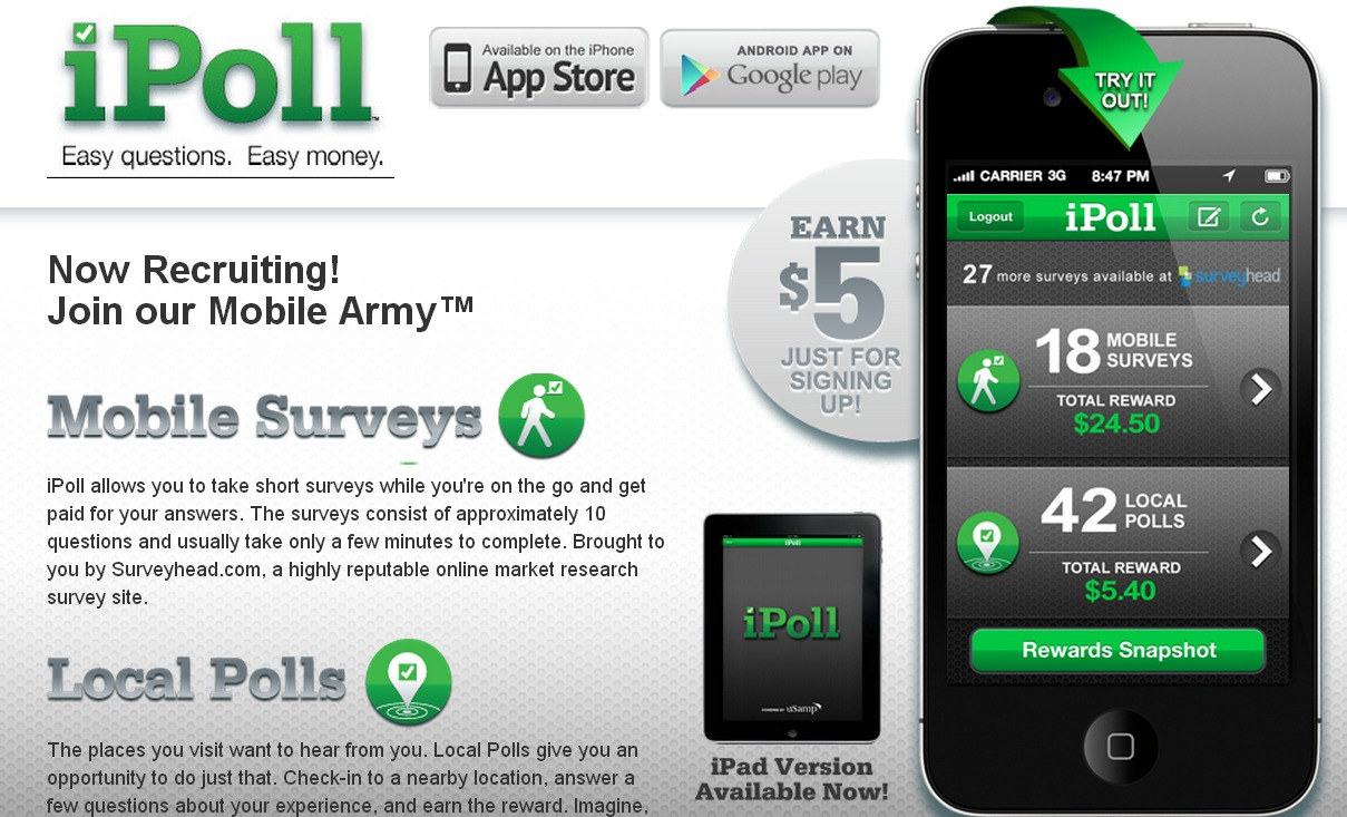 iPoll. Easy Questions, Easy Money