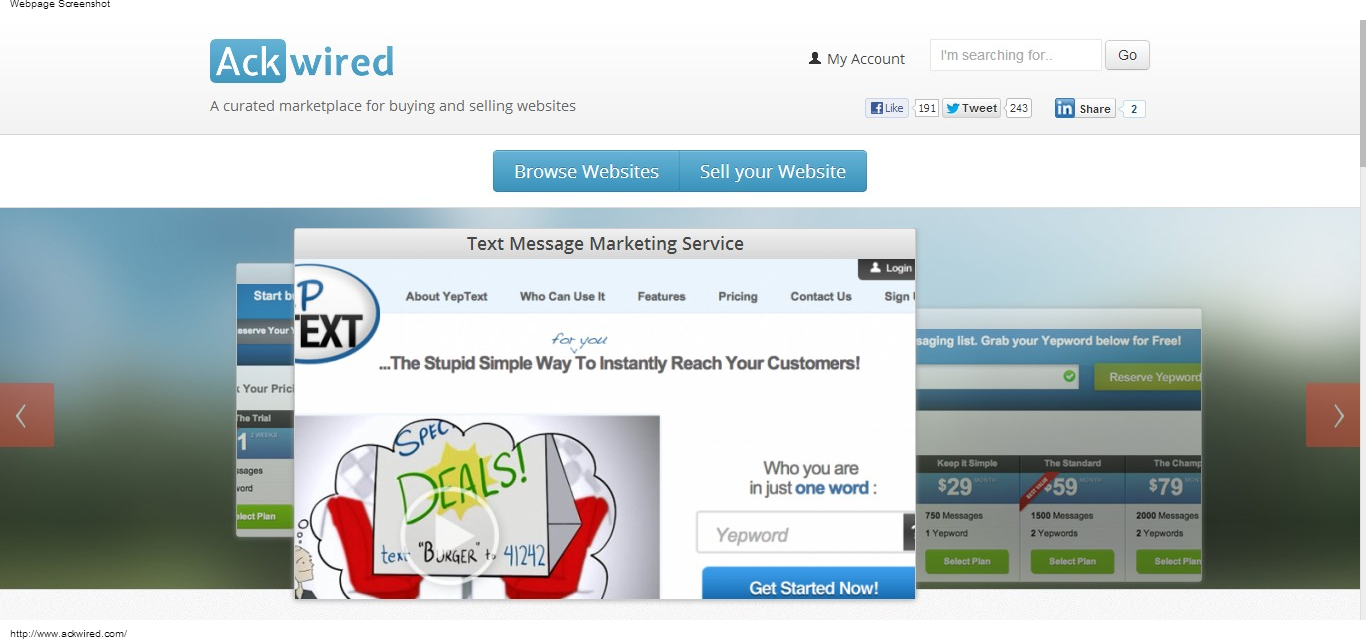 Ackwired sell a website and make quick profit for Top photo selling websites
