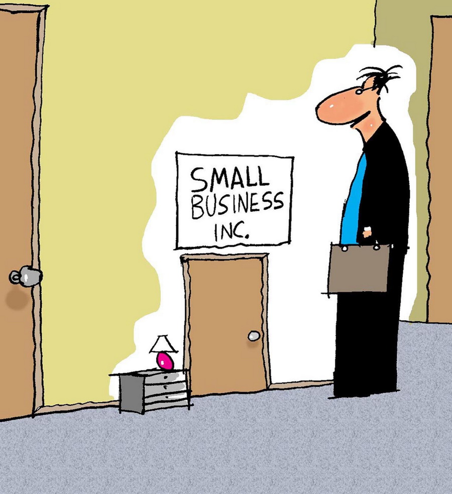 Small business in small door