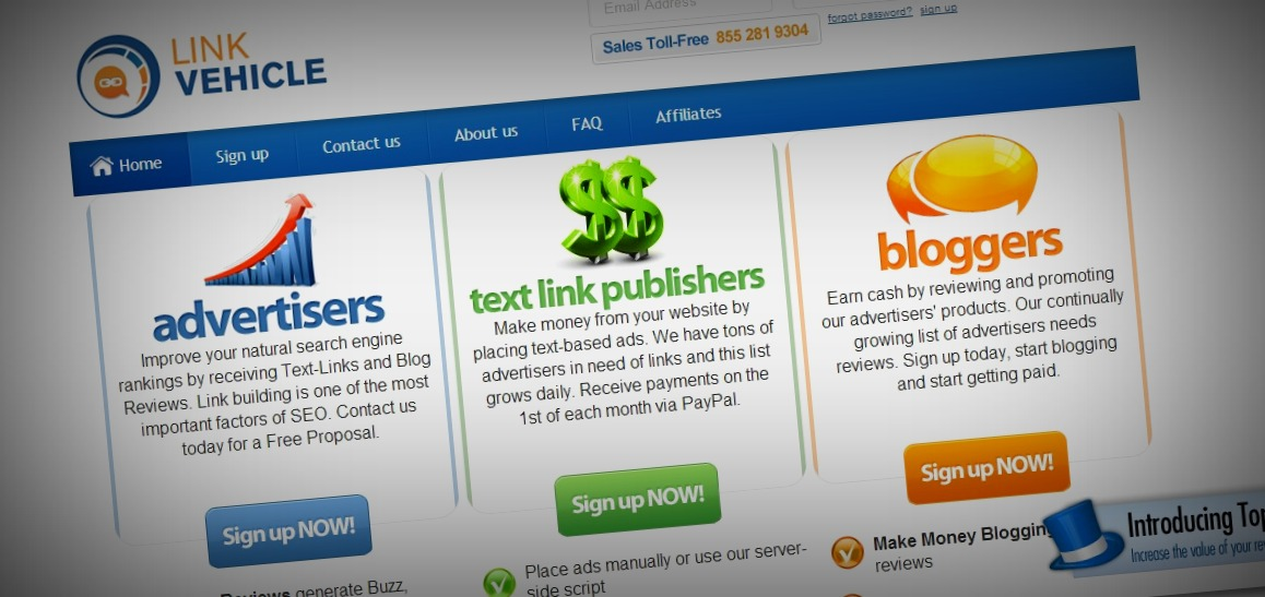 LinkVehicle-Receive-Text-Links-Blog-Reviews