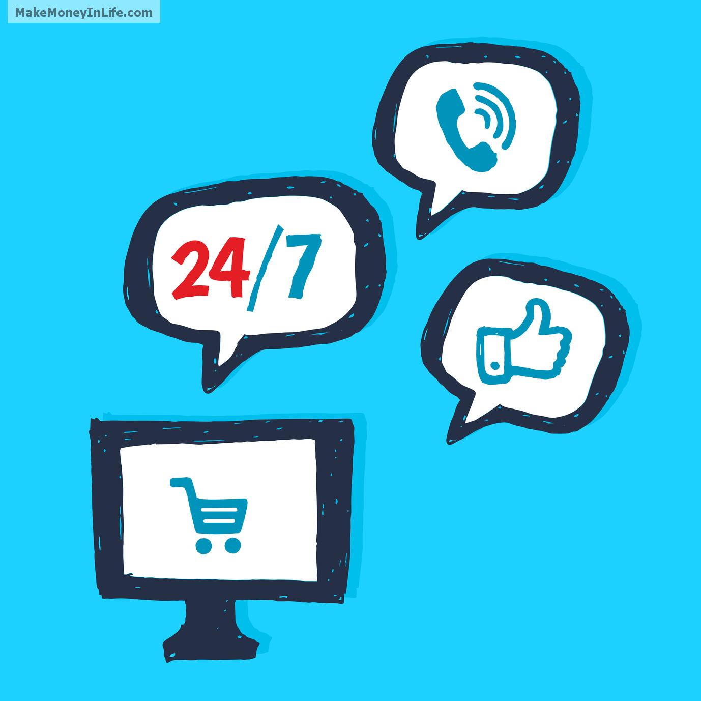 24/7 online web-service